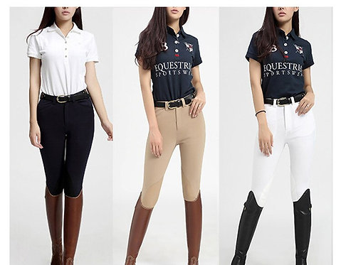 女式馬術矽膠長褲Women Horse Riding Silicone Trousers