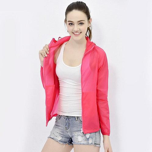 女士透氣防曬修身防風防水連帽外套 Ladies Breathable Sunscreen Slim Wind/ Waterproof Hooded Jacket