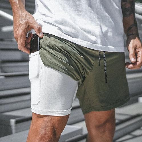 新款壓縮輕質速乾雙層短褲 New Compression Lightweight  Quick Dry Double Layer Shorts
