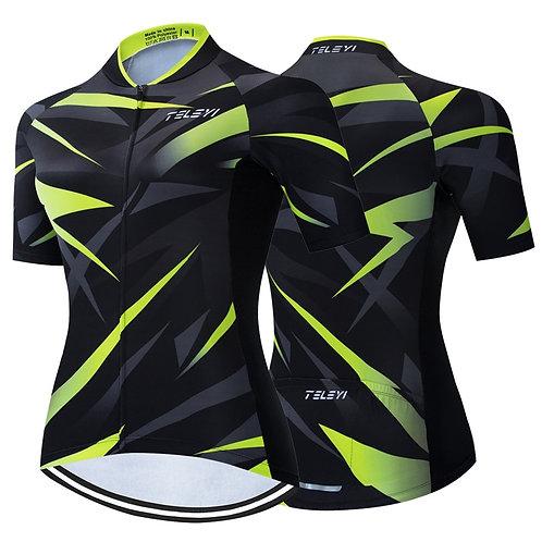 幾何圖形自行車合身專業上衣 Geometric graphic bike fit professional top