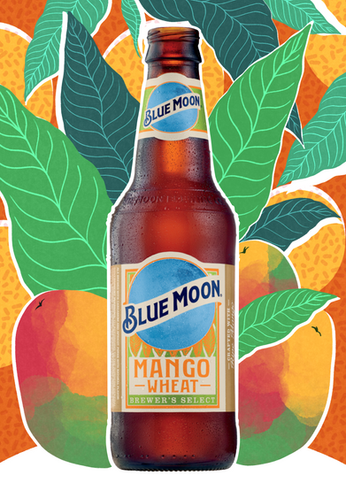 Blue Moon Mango Wheat Ad Mockup