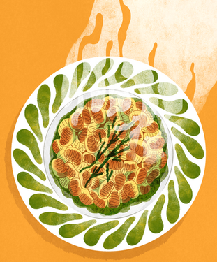 Pesto Samphire Gnocchi