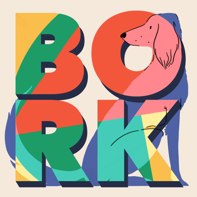 Mock logo for a dog food brand