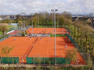 Nieuwe tennispark af