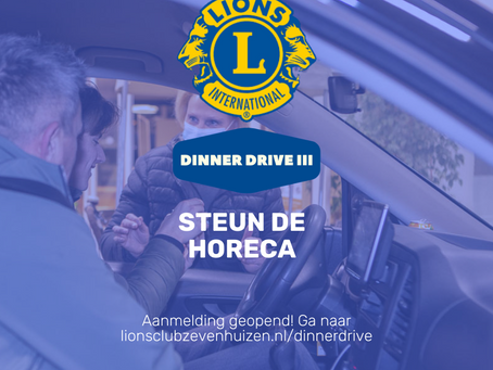Inschrijving Lions Dinner Drive III geopend 🔥🍴