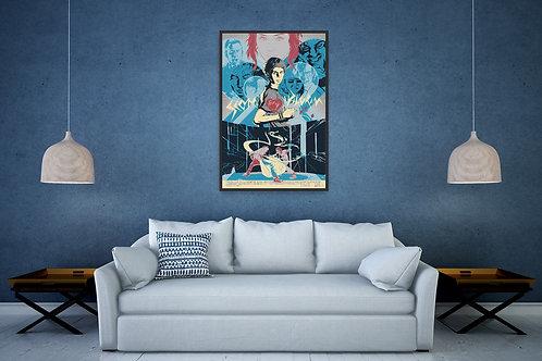Scott Pilgrim vs the World Framed Poster