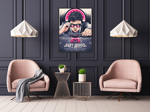 Baby Driver Framed Poster