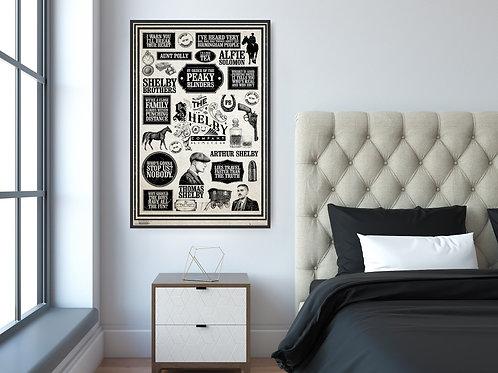 Peaky Blinders Framed Poster