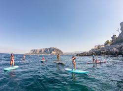 Escursione in stand up paddle a Capo Gallo