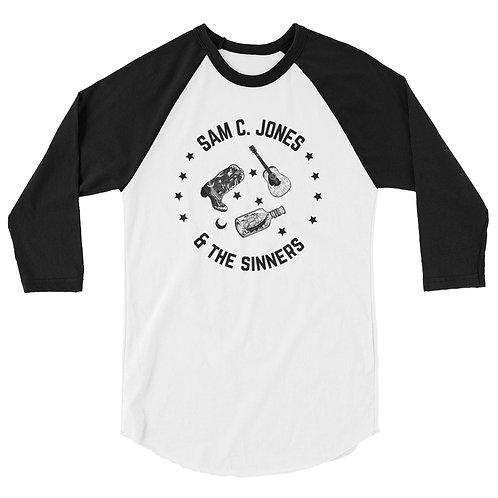 Sam C. Jones & the Sinners Baseball Tee