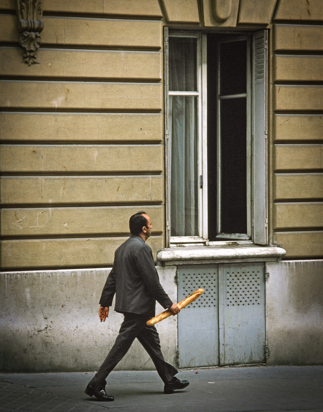 Man with Bread, Paris