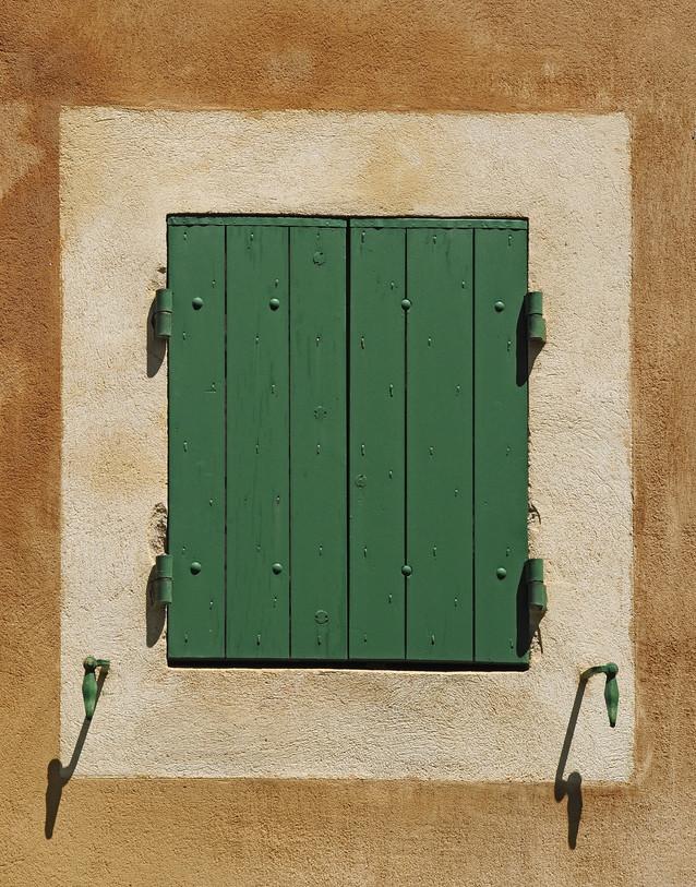 Rust Wall - Green Shutters