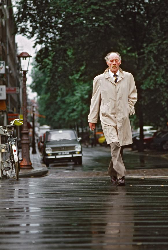 Man in Raincoat, Amsterdam
