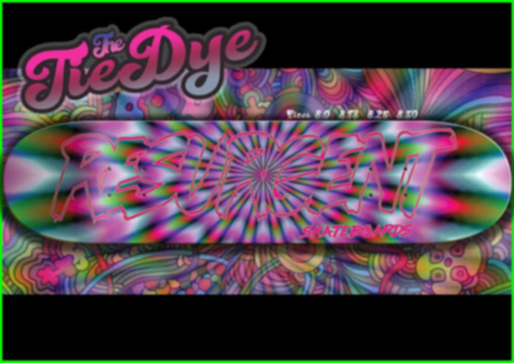 Resurgent Skateboards Tie Dye deck