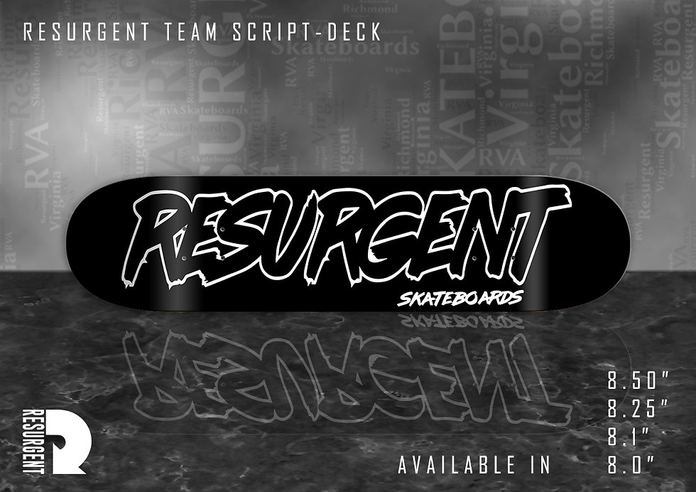 Resurgent Skateboards Script Deck