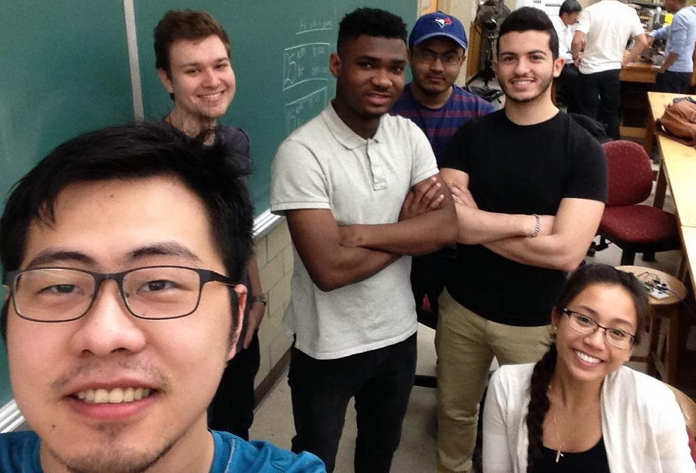 From L-R; Zihao, Andrew, Patrobas, Althaf, Ahmed and Joanna