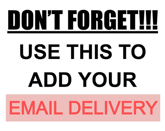 + email DELIVERY info