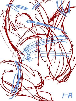 YCH sketch 01 . bondage pride