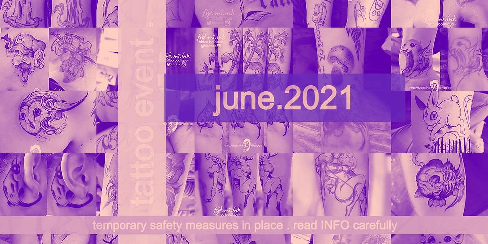 JUNE . 2021 . tattoo event