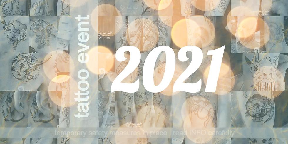 NEW YEAR . 2021 . tattoo event