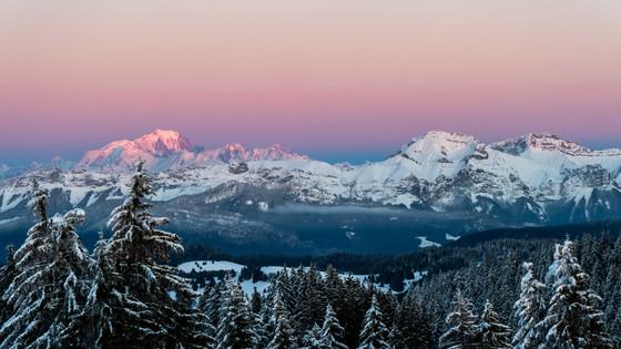 Crépuscule du Mont Blanc