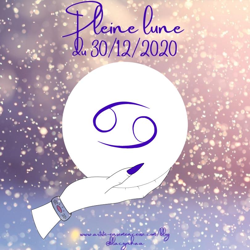 pleine lune 30 décembre 2020 en cancer @blaciynhaa