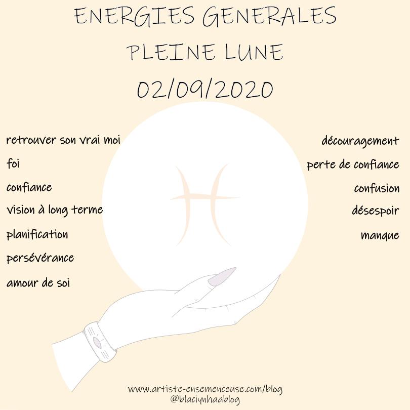 énergies générales nouvelle lune du 19 août 2020
