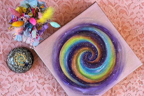 Peinture Spirale multicolore