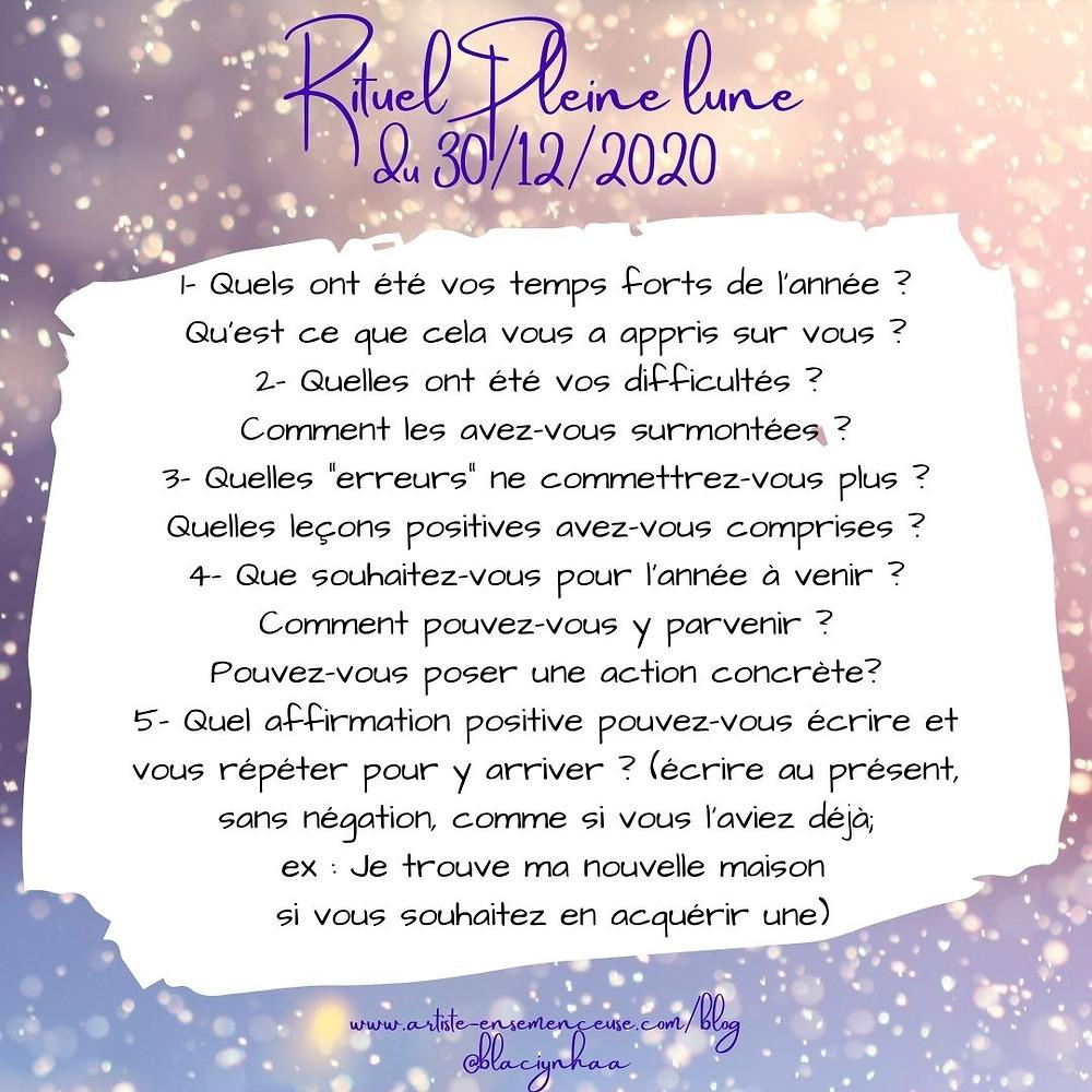rituel pleine lune 30 noveebre 2020 synchronicités @blaciynhaablog