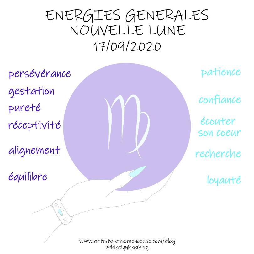 énergies générales nouvelle lune du 17 septembre 2020