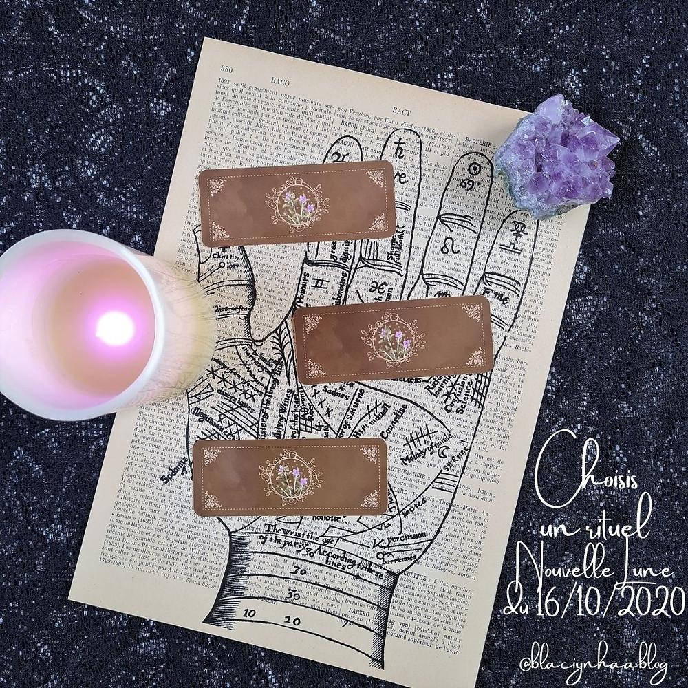 rituel nouvelle lune du 16 octobre 2020 @blaciynhaablog