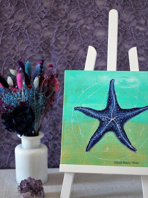 peinture etoile de mer