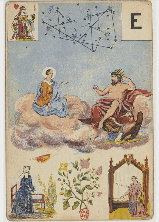 Carte du jeu Mlle Lenormant. Source BNF. blaciy nhaa @blaciynhaablog