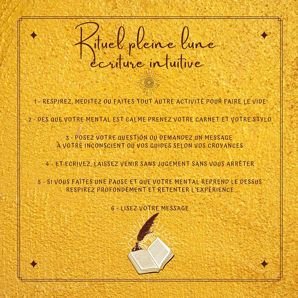 rituel pleine lune écriture intuitive 01 octobre 2020 @blaciynhaablog blaçiy nhaa