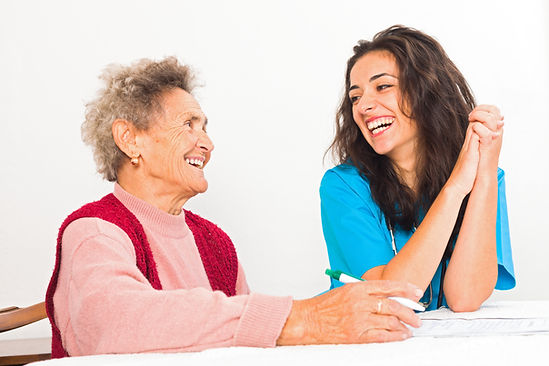 Sharing a Smile with Seniors
