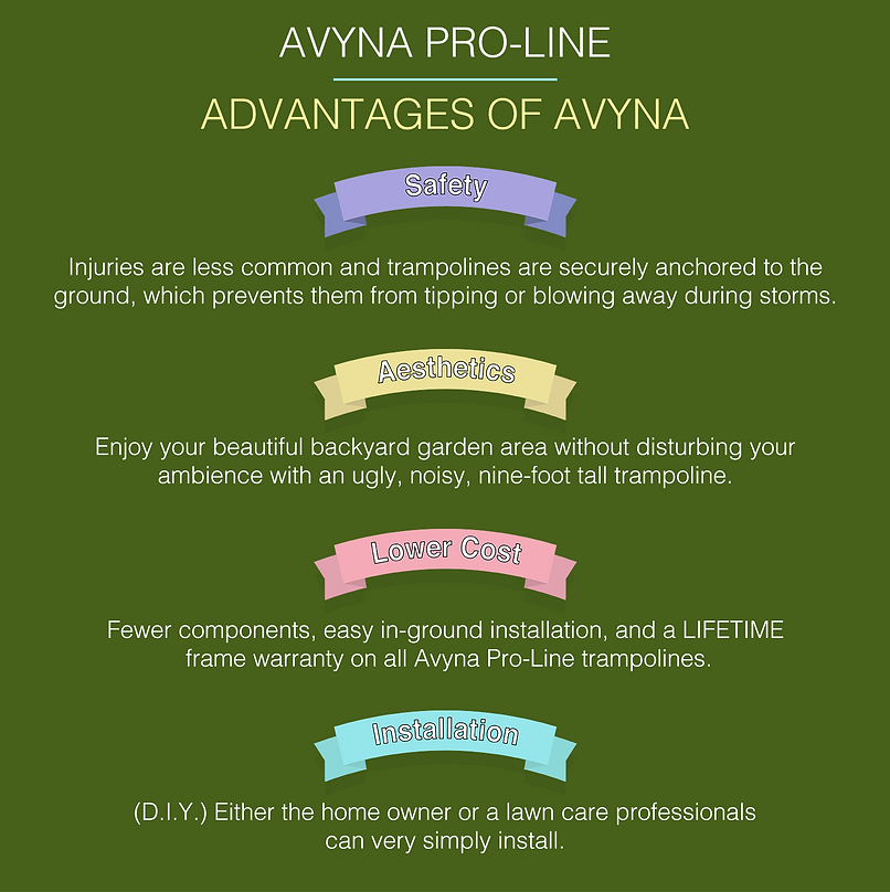advantages of avyna in ground trampolines
