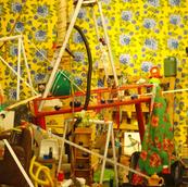 Detalhe da instalação Pequenos cúmulos #6, da série Ao alcance da mão