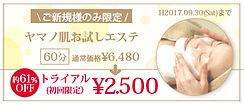お試しエステ | キャンペーン | エステサロン | 大阪 | 八尾 | 山野愛子どろんこ美容青山店