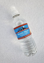 Customer label bottled water with refreshing, pure Montana water.