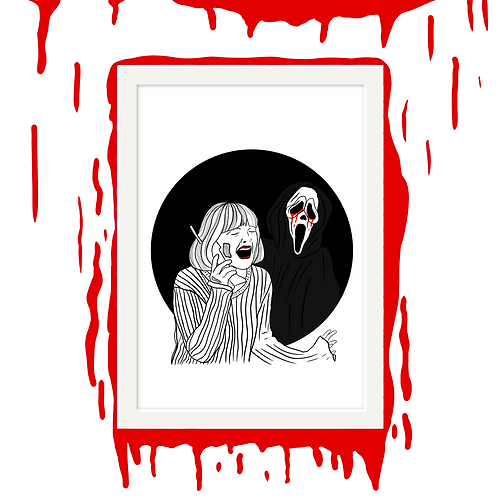 Ghostface Horror Wall Art