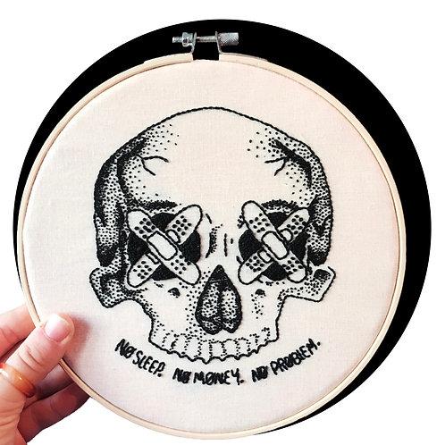 """Half Skull 8"""" Hoop Art"""