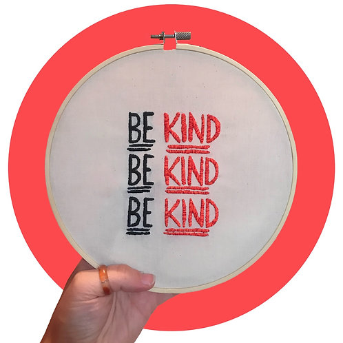 'Be Kind' Hoop Art