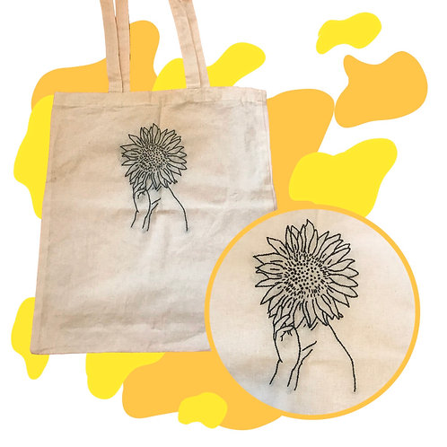 'Sunflowers on my Mind' Canvas Tote