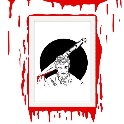 Norman Bates Horror Wall Art
