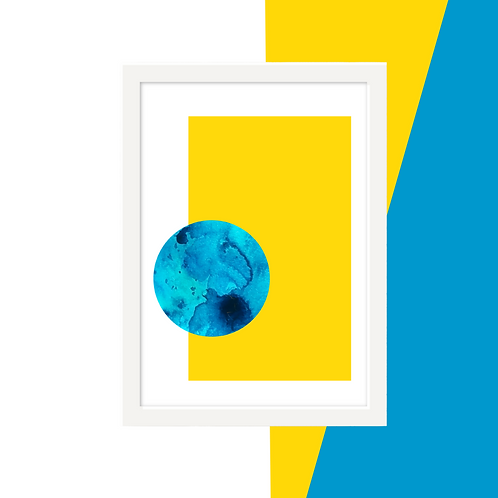 'Blue Moon' Abstract Wall Art