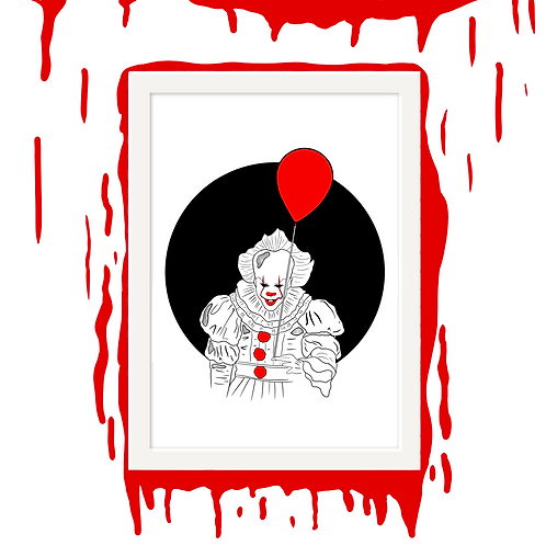 Pennywise the Dancing Clown Horror Wall Art
