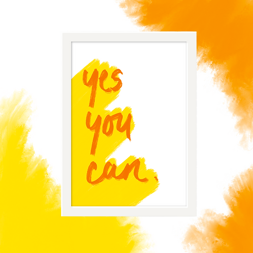 'Yes You Can' Wall Art
