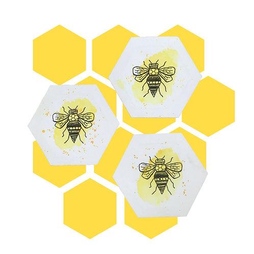 Mini Bee Wateecolour Canvas