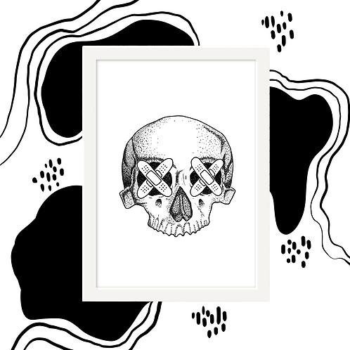 Half Skull Wall Art