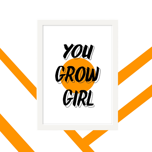 'Grow Girl!' Wall Art